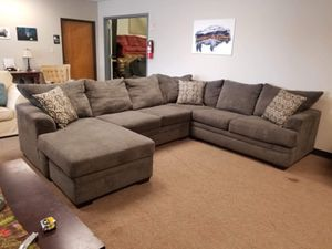 Grey Sectional Couch with Chaise for Sale in Denver, CO