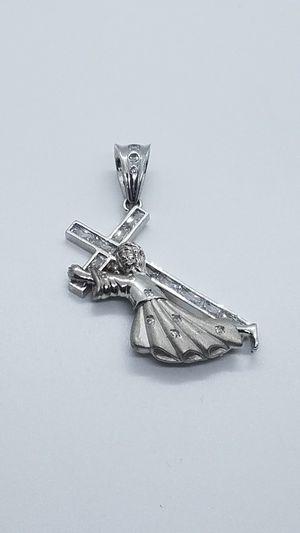 Silver jesus pendant for Sale in Glendale, AZ