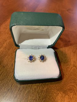 Sapphire and Diamond Earrings for Sale in Newton,  MA