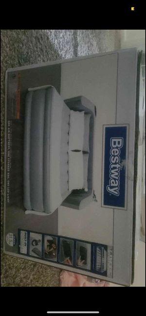 Queen air mattress w headboard for Sale in Midland, MI