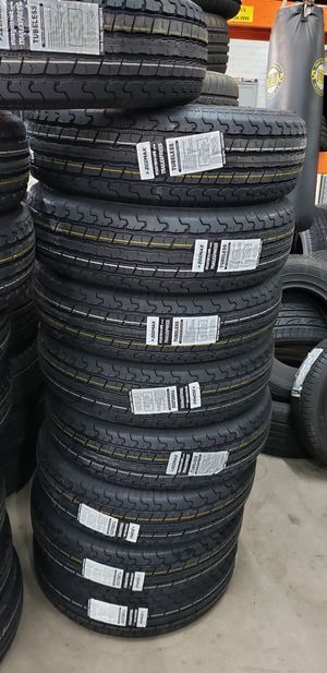225/75/15 NEW TRAILER TIRES 10PLY FOR 300 DOLLARS WITH EVERYTHING INCLUDED TAX INCLUDED FINANCING AVAILABLE NO CREDIT CHECK, 90 DAYS SAME AS CASH for Sale in Houston, TX