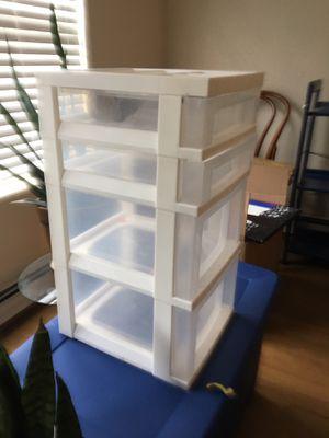 Plastic drawers shelves for Sale in Providence, RI