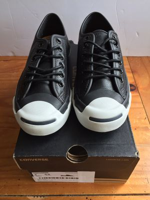 New Converse Unisex Jack Purcell Black Casual Shoes Men's Size 5 Women's Size 5.5 for Sale in Hoffman Estates, IL