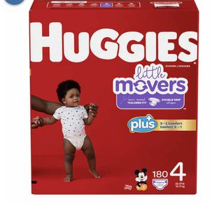 Huggies little movers size 4 for Sale in Palmdale, CA