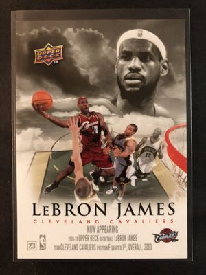 Lebron James 2009-10' Upper Deck Basketball Card. Lebron James Cleveland Cavaliers Basketball Trading Card RARE INSERT. for Sale in Chicago, IL