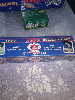 Score collector set 1989 660 player cards 56 magic motion trivia cards brand new unopened for Sale in Portland, OR