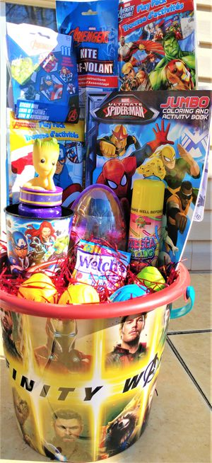 Marvels Infinity War Easter Bucket - Great activity bucket for Sale in Fort Washington, MD