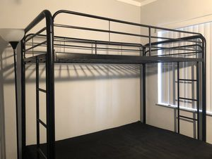 DHP Twin over Futon Black Metal Bunk Bed for Sale in Miami Beach, FL