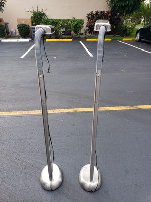 PAIR HI TECH FLOOR LAMPS 20 each for Sale in Boca Raton, FL