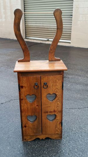 Wood storage cabinet with harp for Sale in Powhatan, VA
