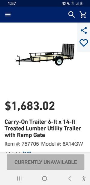 Utility trailer used @ 6 month for Sale in Brookside Village, TX
