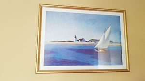 Sailboat picture frame $20 size 30x42 for Sale in Anaheim, CA