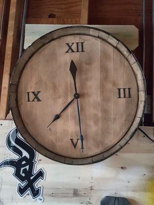 CUSTOM BARREL CLOCK for Sale in Wheaton, IL