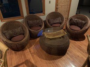 Beautiful Wicker chair table set indoor outdoor for Sale in Fairfax, VA