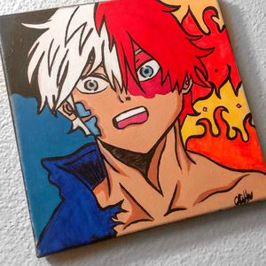 Todoroki hand painted painting for Sale in Stockton, CA