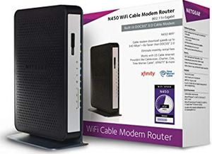 Used Netgear N450 Modem/Router in good working condition for Sale in Woodbridge Township, NJ