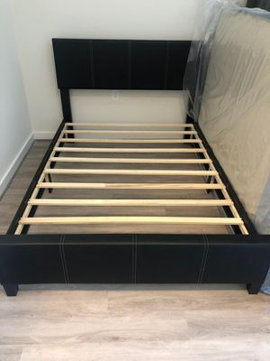 Brand New Full Size Leather Platform Bed Frame for Sale in Wheaton-Glenmont, MD