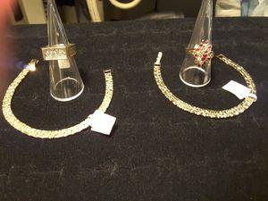 bracletes & Rings. NUGGET BRACLETES & 2 RINGS. EACH. 25$ for Sale in Ladson, SC