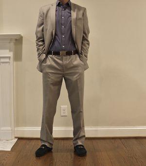 Mens Suit - Light Grey (Bar III-Slim Fit), 40R Jacket, 34x32 Pants for Sale in Fairfax, VA