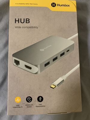 Humixx USB C Hub adapter for laptops and macbooks for Sale in Merced, CA