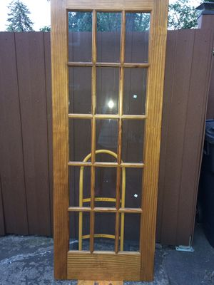 Beautiful Wood & Glass Door for Sale in Naperville, IL
