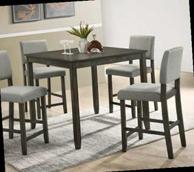 CLOSEOUTS LIQUIDATIONS SALE BRAND NEW COUNTER HEIGHT 5PC DINING TABLE SET INCLUDES TABLE AND 4 CHAIRS ALL NEW FURNITURE CM2708 for Sale in Ontario,  CA
