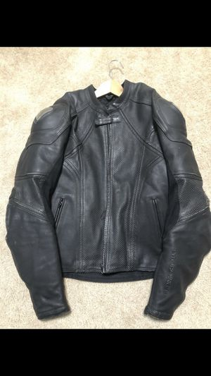 Leather motorcycle jacket with armor for Sale in Redwood City, CA
