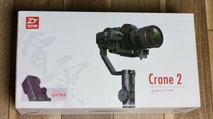 Zhiyun crane 2 gimbal w/ follow focus & hand grip for Sale in Brooksville, FL
