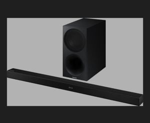 """Samsung - 2.1-Channel Soundbar System with 7"""" Wireless Subwoofer - Black for Sale in Woodinville, WA"""