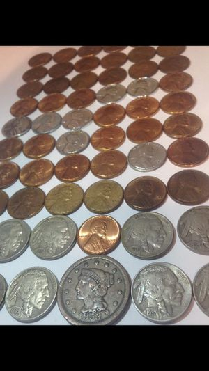 Stunning High Grade Very Fine to Mint State- 61 Old 1853-1958 US Type Coins Set- Wheat Pennies/Buffalo Nickels/Large Cent! for Sale in Herndon, VA