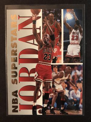 Michael Jordan 1994 Fleer NBA Superstars Basketball Card. Air Jordan Chicago Bulls Basketball Trading Card INSERT 🔥 for Sale in Chicago, IL