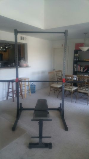 Weight Set, Bench press, Squat bar for Sale in Las Vegas, NV