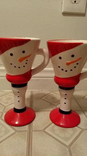 Snowman goblets for Sale in Garden Grove, CA