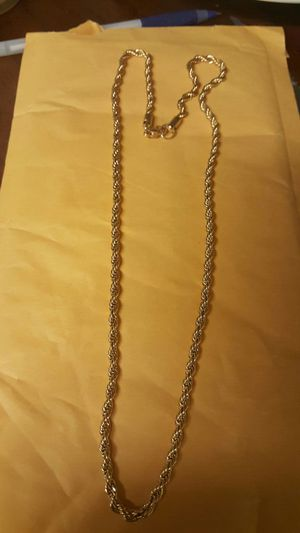"""18k gold plated stainless steel rope chain 24"""" for Sale in Severn, MD"""
