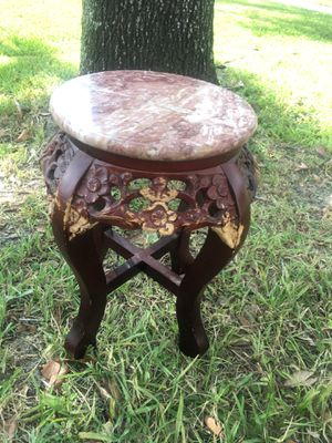 Heavy antique small marble stool chair - ready to go for Sale in Pembroke Pines, FL