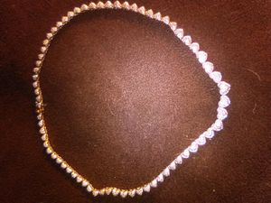 Sterling silver gold-plated necklace for Sale in Lakehurst, NJ