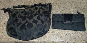 Womens Coach purse with matching wallet for Sale in Ontario, CA