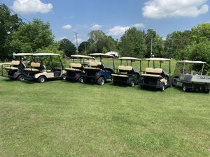 Four passenger golf carts gas and electric for Sale in Burlington, WI