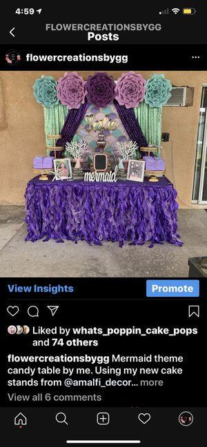Mermaid theme backdrop for Sale in Muscoy, CA