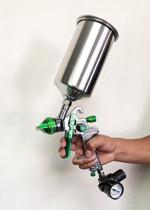 New in box $27 HVLP Spray Gun Auto Paint Gravity Feed w/ Gauge Metal Flake Primer Nozzle 2.5 mm for Sale in Pico Rivera, CA