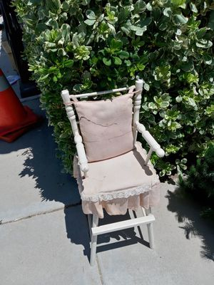 Antique doll/small child baby high chair/chair for Sale in Murrieta, CA