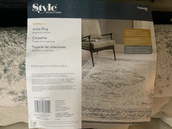 2 area rugs for sale. Not used new. See pic for specs and size