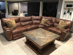 Basset Leather Couch for Sale in Buffalo, NY