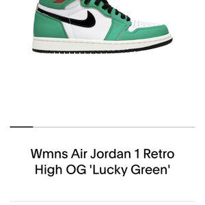 Woman's Air Jordan 1 Retro High OG 'Lucky Green' for Sale in Portland, OR