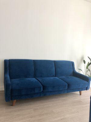 Velvet couch /sofa / royal blue for Sale in Seattle, WA