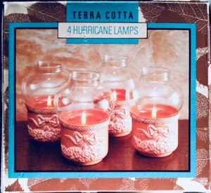 Terra Cotta Hurricane Lamps (4 lamps). 👉See my other offers👈 for Sale in Stockton, CA