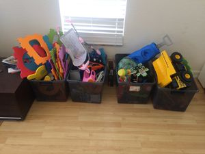 (4) boxes of kids toys for Sale in Vista, CA