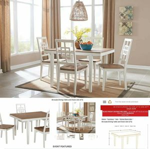 Brovada Dining Table With Chairs for Sale in Miramar, FL