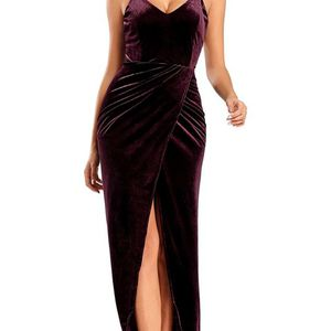 New S //AbabalayaLong Bodycon Cocktail Dress for Prom Party Sexy Spaghetti Strap Velvet Formal Dresses for Sale in Las Vegas, NV