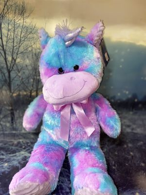 "New kellytoy tye dye unicorn 20"" with tag for Sale in Bellflower, CA"